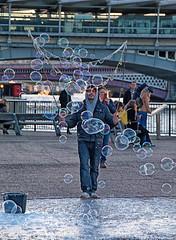 Bubbles (sprintophotography) Tags: london bubbles southbank cannon
