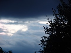 A storm is coming  .. (andromeda201113) Tags: blue light sky storm weather clouds germany deutschland licht himmel wolken nrw blau nordrheinwestfalen wetter silouettes sturm unwetter silhouetten northrinewestphalia