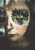 After (Christine Lebrasseur) Tags: portrait people woman brown france green eye art texture rain canon drops makeup onblack throughwindow léane allrightsreservedchristinelebrasseur