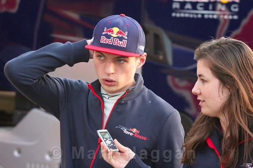 Max Verstappen in the paddock during Formula One Winter Testing 2016