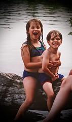 Janelle & Ian, 1995 (Tatiana12) Tags: family vacation water ian 1995 janelle thecedars nystromfamily