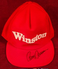 #38-14, NASCAR, The Late Benny Parsons, Signing, Winston, Hat, (Picture Proof Autographs) Tags: classic sign real photo image picture images collection photographs photograph collections nascar proof session collectible collectors signing collectibles authentic sessions collector busch signed genuine winstoncup inperson photoproof authenticated sigatures sigature pictureproof