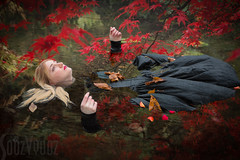 Ophelia in Autumn (Sue_Hutton) Tags: autumn workshop romantic preraphaelite newsteadabbey october2015 michaellauphotography graceeden