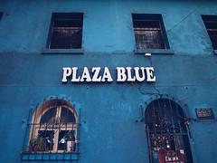 Pulza Blue (flatlandpics) Tags: chile blue santiago window architecture ep3 filmlook barriobellavista vsco