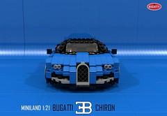 Bugatti Chiron (Geneva 2016) (lego911) Tags: auto car vw model lego geneva render group bugatti supercar cad w16 povray moc v16 2016 ldd chiron miniland hypercar 2010s lego911
