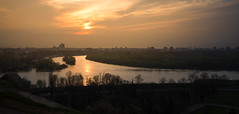 where sava meets danube (Roman Schaub) Tags: sunset belgrade danube sava