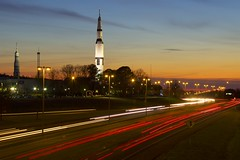 Rocket City USA (twoplate) Tags: sunset timelapse huntsville space alabama nasa rocket aerospace saturnv spaceandrocketcenter spacecamp tranquilitybase