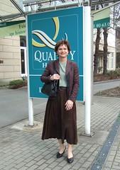 Quality hotel (Marie-Christine.TV) Tags: lady tv pumps feminine skirt tgirl transvestite suede mariechristine skirtsuit lederrock