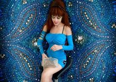 Ameynra fashion. Model Sofia Goldberg (Sofia Metal Queen) Tags: blue red cute sexy girl fashion hair design beads model dress embroidery sassy longhair mini cutie exotic purse gown lightblue minidress photomodel redhaired ameynra