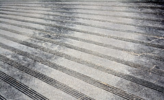 Stripes (x ME x) Tags: street bw abstract corner nikon pavement stripes minimal curve streifen kurve auffahrt d5200 fchergefchert
