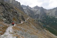 Zejście z przełęczy  pod Świstówką do ZIelonego Stawu