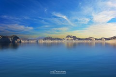 An Island in Blue waters (Ali's Photograpy) Tags: blue pakistan sunset sky mountains reflection water landscape island photography nikon horizon ali punjab nikkor mangla azadkashmir mangladam manglalake 18105mm d7100 aliasghar alisphotography