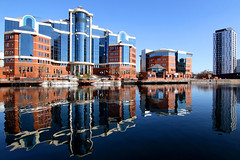Salford Quays Reflections. (maurice_clegg) Tags: reflections salfordquays mediacity