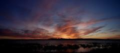 Wispy Cloud Sunset Pano (markchevy) Tags: sunset sea orange reflection clouds landscape bay harbor photo newjersey interesting colorful pix graphic dusk nj picture scene atlantic vista belmar avon pictorial rx100 sharkriverinlet markchevy