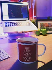 Keep Calm (Bridge Computers) Tags: apple workspace homeoffice macbook