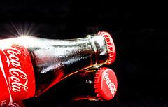 Coca Cola what else.....! (fotoerdmann) Tags: red two food black colour germany one essen day cola drink indoor eat werbung per coca zwei reklame deutschen farben forschung speisen fotowelt fotoerdmann
