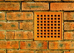 Red vent (Tony Worrall Foto) Tags: county uk red england cold color brick stone wall square vent cool stream colours tour open place hole northwest unitedkingdom country north visit location holes lancashire area blocks block northern update attraction redbrick lancs blocky welovethenorth