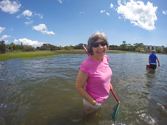 (L.Grey Photography) Tags: blue people beach water pine clouds silver campus nc skies ministry center fisheye retreat trinity sound lutheran shores knoll episcopal gopro hero4