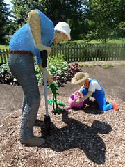 Lisle, IL, Morton Arboretum, Lego Gardeners (Mary Warren (6.7+ Million Views)) Tags: sculpture art nature lego gardener mortonarboretum lisleil