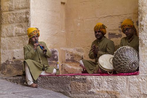 Jodhpur - Musiker im Mehrangarh Fort