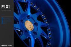 f121-brushed-electron-blue (AG Wheels) Tags: blue wheel design paint stage painted coat spoke wheels powder step electron finish ten designs lip custom rim rims avant garde multi forged finishing brushed avantgarde bespoke directional forging rotational powdercoat f121 agwheels