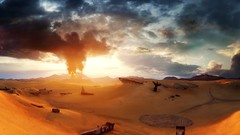 Mad Max_089 (Sspektr) Tags: sunset panorama pc screenshot disaster videogame madmax wasteland postapocalypse madmaxgame