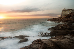 Castello del Boccale, Livorno (Mirko Chessari) Tags: sunset sea italy cliff it toscana livorno sescape castellodelboccale