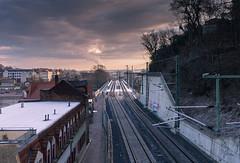 Through Tracks in Meien (Philipp Seibt) Tags: train germany way saxony perspective tracks sachsen through bahn poets meissen gleis meisen poetenweg zuggleise