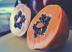 tasty papaya (susaspassion) Tags: orange fruit juicy papaya tasty delicious frucht lecker obst saftig