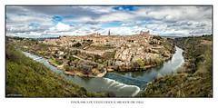 PANORAMICA-DE-TOLEDO (PHOTOMAYEUTA) Tags: viaje panorama espaa rio river spain paisaje panoramic medieval viajes toledo panoramica tajo panoramique castilla 2016