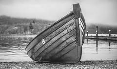 Boat at Bowness (xhupf) Tags: blackandwhite bw lake water boat district olympus lakeland hdr bowness em5 olympusomdem5