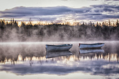 Loch Rusky (Katherine Fotheringham) Tags: water clouds sunrise reflections boats scotland fishing loch rusky