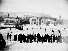 A hockey game takes place as students watch on McGill University's Campus. Montreal, Canada. December 31, 1883. [760x565] #HistoryPorn #history #retro http://ift.tt/1XuAcby (Histolines) Tags: canada game history hockey students campus december place montreal watch retro timeline takes 31 mcgill 1883 universitys vinatage a historyporn histolines 760x565 httpifttt1xuacby