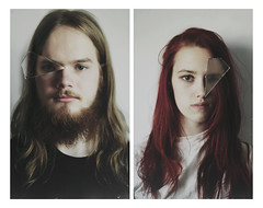 Shards (KaiaPieters) Tags: portrait reflection guy eye glass girl face mirror eyes redhair shard shards