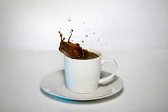 Coffee Splash (Katie Kramer Photography) Tags: white coffee warm drink beverage splash