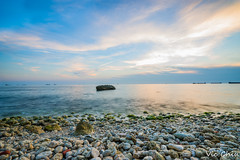 DSC09852 (Po Jui) Tags: blue light sky white nature water beautiful stone landscape seaside moss sony taiwan wave spray kaohsiung                 sal1635z slta99v