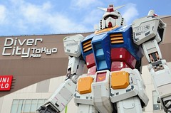 Gundam (jpellgen) Tags: travel anime art japan asian japanese tokyo nikon asia manga  nippon  odaiba gundam nihon edo kanto  honshu 2016 divercity d7000