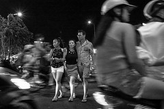 Street in HCMH (evi.herlyna) Tags: street people bw photography crossing traffic streetphotography crowded hochiminh