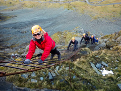 Honister_Via Ferrata (11 of 73) (Kevin John Hughes) Tags: bridge england lake snow mountains net landscape scary burma rope cargo climbing pike keswick buttermere honister dostrict fleetwith mountineering