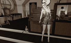 Look#127 (LoneSolitarian) Tags: life light shadow people woman art girl beauty fashion female dark photography photo 3d model feminine avatar gimp charm sl human secondlife virtual blonde attractive second lone lovely sim firestorm windlight lumipro