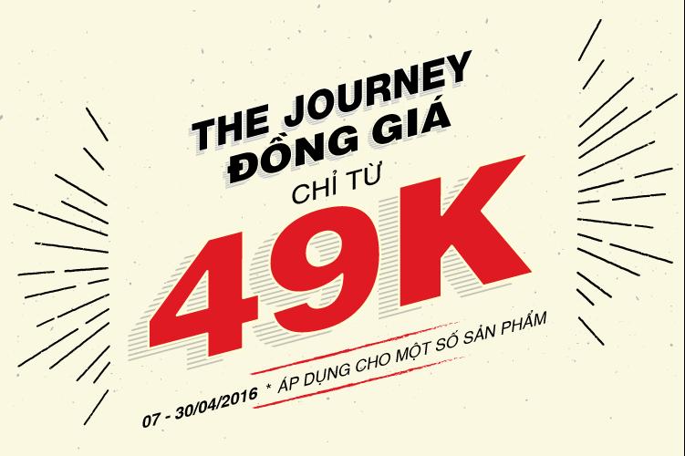 Chương trình THE JOUNEY - đồng giá chỉ từ 49k tại Robin Việt Nam