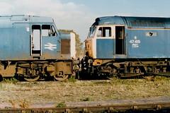 19891028 017 March. 45122 (D11) With 47415 (D1514) (15038) Tags: march br diesel trains locomotive railways britishrail class47 d11 class45 45122 47415 d1514