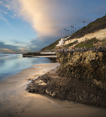 san diego : encinitas (William Dunigan) Tags: ocean county sunset seascape color beach rock clouds photography nikon san north diego william formation encinitas d800 swamis dunigan