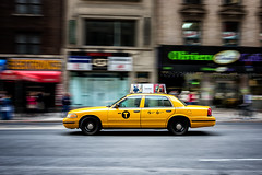 NYC Taxi (Neo7Geo) Tags: nyc newyork blur yellow speed canon cab taxi panning pann ricorodriguez neo7geo