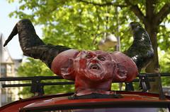 Frankfurt, Bockenheimer Landstrae, teuflische Ape - Satanic Ape (HEN-Magonza) Tags: germany deutschland hessen frankfurt ape devil hesse teufel bockenheimerlandstrase