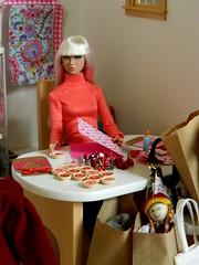 Positively Puzzled Poppy Parker (rata-tat-tat) Tags: dolldiorama barbiediorama poppyparker poppyparkerbeatnikblues