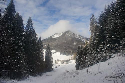 View to Brecherspitz / Blick auf die Brecherspitz