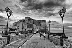 Early Morning at Castel dell'Ovo (Andrzej Wodzinski) Tags: blackandwhite bw italy white black castle monochrome canon photography eos photo europa europe italia monochromatic andrew napoli naples fotografia castel czarny ovo lrps andrzej casteldellovo włochy biały neapol 70d wodzinski czarnobiały canoneos70d andrewwodzinski salonpolski andrzejwodzinski andrzejwodzinskilrps