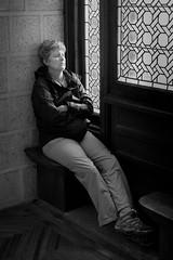 2015 52 Weeks - Week week 24 / Spain/Astorga: A Pilgim rests at the Episcopal Palace (Zen Voyager) Tags: spain streetphotography astorga