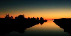 Last light of 2015 (TJ Gehling) Tags: sunset evening dusk goldengatebridge newyearseve isabel sanfranciscobay pointisabel richmondca pointisabelregionalshoreline ebparksok